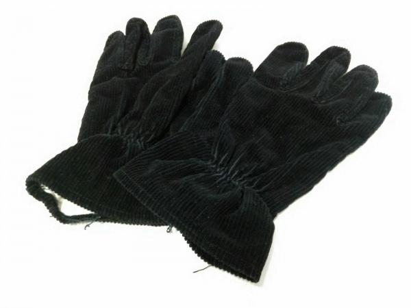 R.Newbold(アールニューボールド) 手袋 レディース 黒 コーデュロイ 1