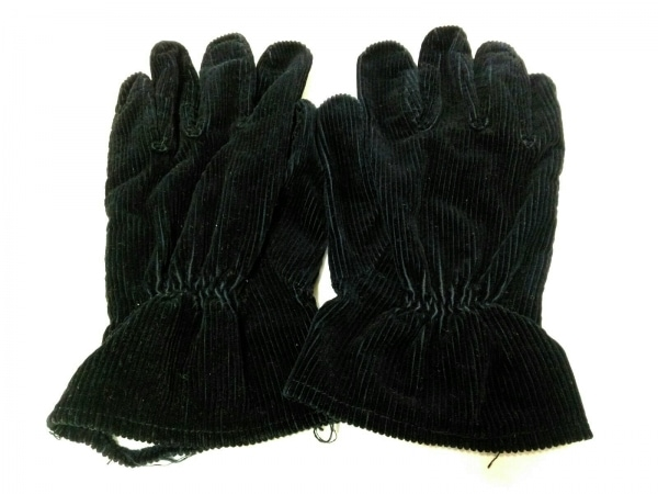 R.Newbold(アールニューボールド) 手袋 レディース 黒 コーデュロイ 2