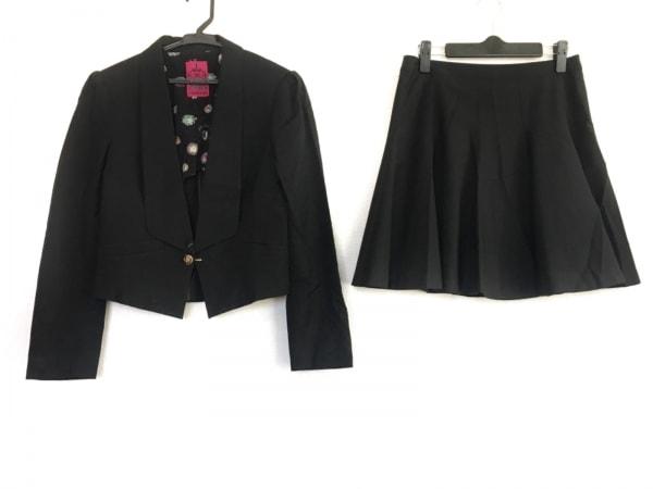 DOLLY GIRL(ドーリーガール) スカートスーツ サイズ1 S レディース 黒 ANNA SUI