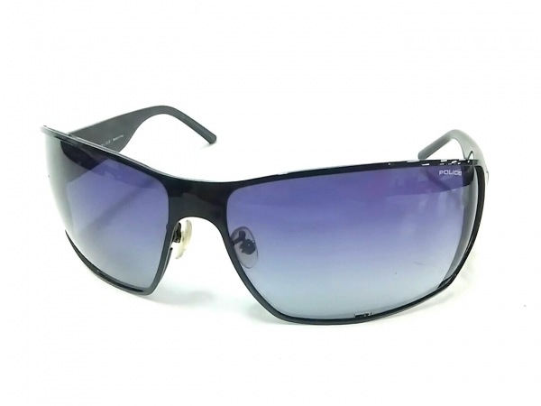 POLICE(ポリス) サングラス美品  S8889G 黒 プラスチック