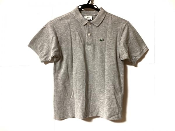 Lacoste(ラコステ) 半袖ポロシャツ サイズ12 L レディース グレー