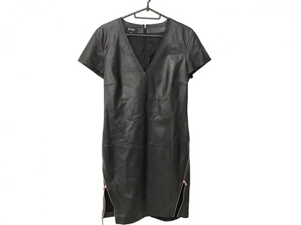 ESCADA(エスカーダ) ワンピース サイズ36 M レディース美品  黒 ラムレザー
