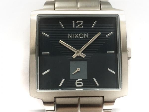 NIXON(ニクソン) 腕時計美品  THE DISTRICT - メンズ ダークグレー