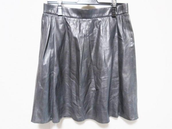 VINCE(ヴィンス) スカート サイズS レディース ダークグレー レザー