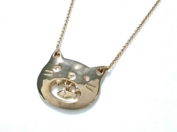 franchelippee(フランシュリッペ) ネックレス美品  金属素材 ゴールド 猫/魚