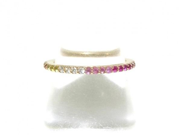 PonteVecchio(ポンテヴェキオ) リング美品  K18PG×サファイヤ×ルビー×ダイヤモンド