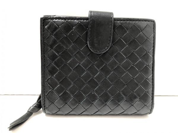 BOTTEGA VENETA(ボッテガヴェネタ) 2つ折り財布 イントレチャート 121059 黒 レザー