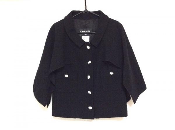 CHANEL(シャネル) ジャケット サイズ38 M レディース美品  P42722 黒