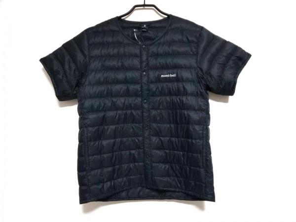 mont-bell(モンベル) ダウンジャケット サイズM メンズ 黒 半袖/春・秋物