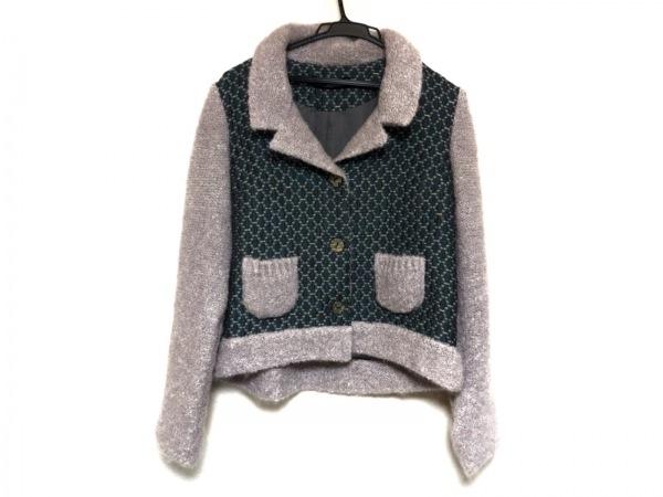 エムアンドキョウコ ジャケット レディース美品  グリーン×グレー×マルチ 刺繍