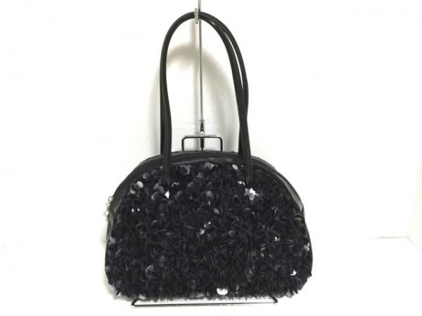 CheChe(チチ) ハンドバッグ美品  黒×シルバー スパンコール