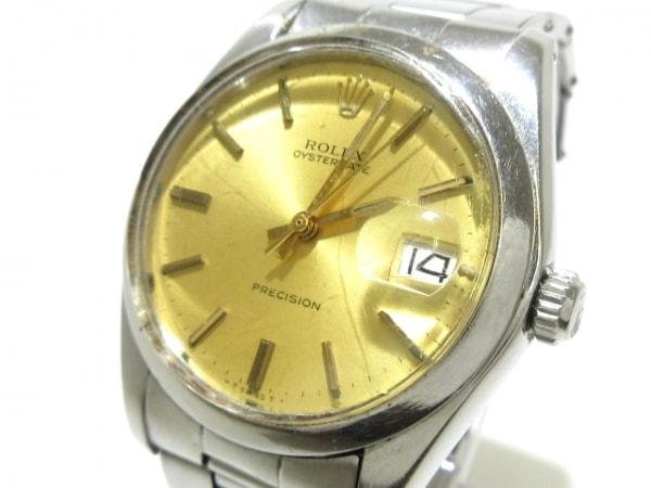 ROLEX(ロレックス) 腕時計 オイスターデイト 6694 メンズ SS/10コマ/要OH ゴールド