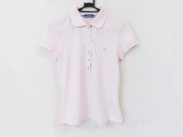 バーバリーブルーレーベル 半袖ポロシャツ サイズ38 M レディース美品  ピンク