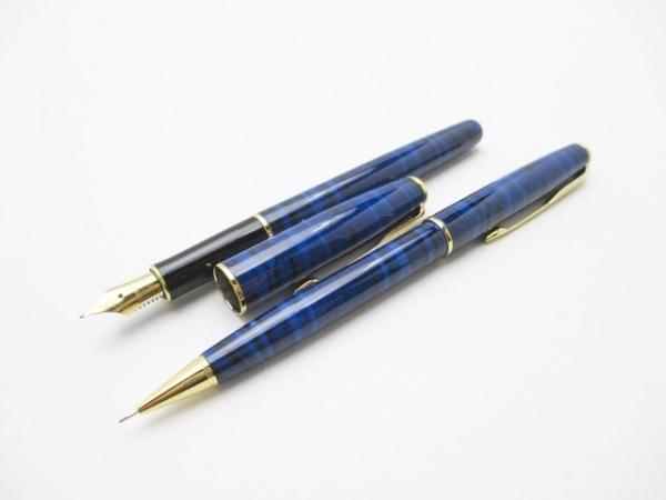 PARKER(パーカー) ペン美品  ブルー×黒×ゴールド シャープペン/万年筆セット