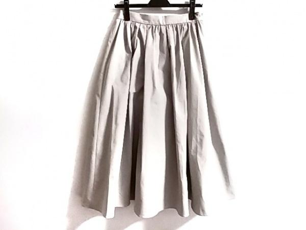 トゥモローランド ロングスカート サイズ36 S レディース美品  ライトグレー