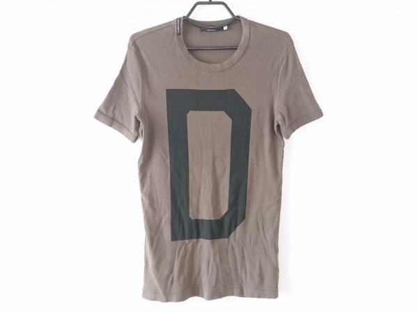 ドルチェアンドガッバーナ 半袖Tシャツ サイズ46 S メンズ新品同様  カーキ×黒