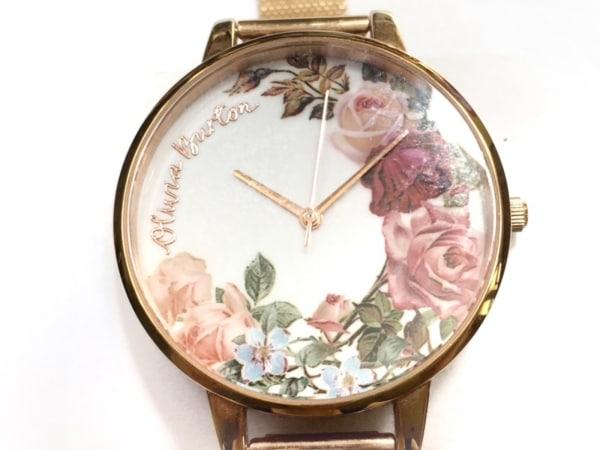 Olivia Burton(オリビアバートン) 腕時計 - OB16ER10 レディース 花柄 白×マルチ