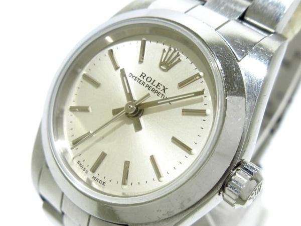 ロレックス 腕時計 オイスターパーペチュアル 76080 レディース SS/11コマ(2コマ落ち)