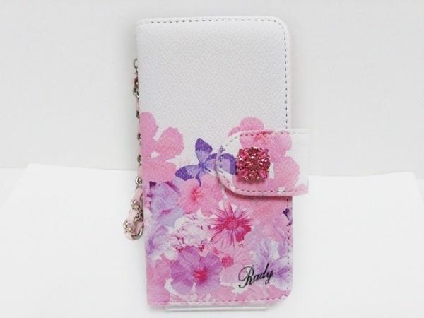 Rady(レディ) 携帯電話ケース ピンク×白 花柄 合皮