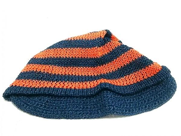 ヴィヴィアンウエストウッドアクセサリーズ 帽子新品同様  オレンジ×ネイビー