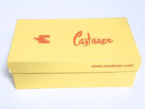 カスタニエール サンダル 36 レディース美品  レッド×ベージュ ウェッジソール