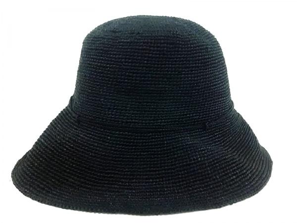 HELEN KAMINSKI(ヘレンカミンスキー) 帽子美品  黒 ラフィア