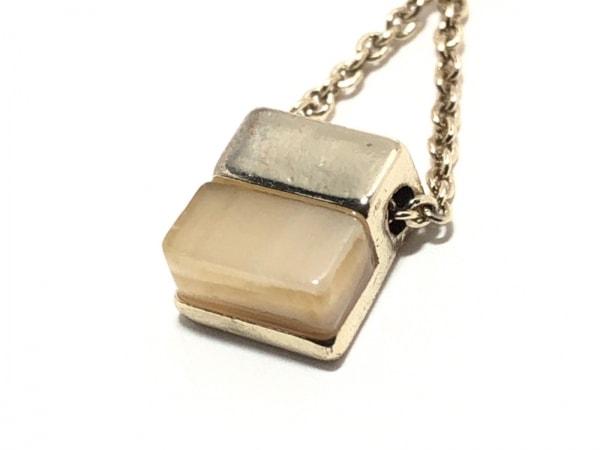 ニューヨーカー ネックレス美品  金属素材×カラーストーン ゴールド×アイボリー