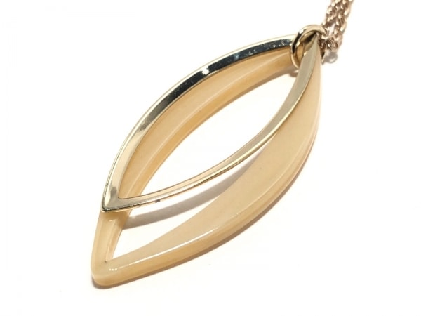ニューヨーカー ネックレス美品  金属素材×プラスチック ゴールド×アイボリー
