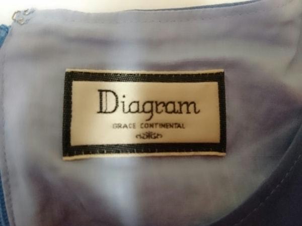 ダイアグラム 七分袖カットソー サイズ36 S レディース新品同様  刺繍