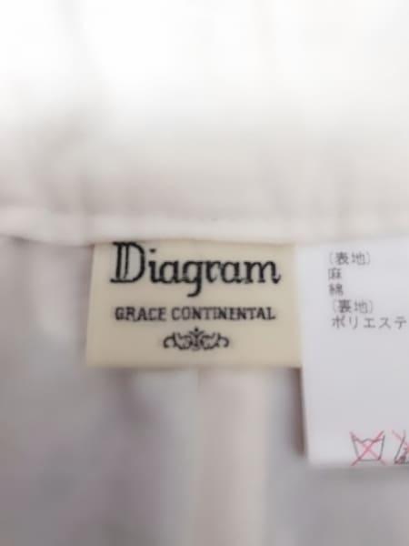 ダイアグラム ショートパンツ サイズ38 M レディース新品同様  白×黒 フラワー/刺繍