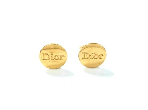 クリスチャンディオール イヤリング美品  金属素材 ゴールド Diorモチーフ