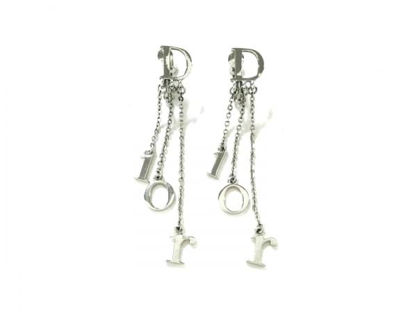 クリスチャンディオール イヤリング美品  金属素材 シルバー Diorモチーフ
