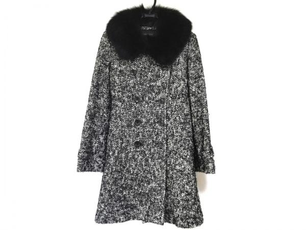 クードシャンス コート サイズ38 M レディース美品  黒×白 冬物