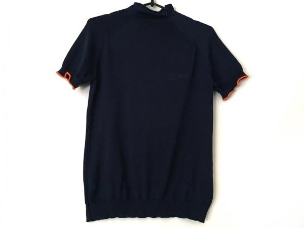 ヴィヴィアンタム 半袖セーター サイズ0 XS レディース美品  ネイビー×オレンジ