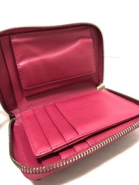 DAZZLIN(ダズリン) 2つ折り財布 ピンク ラウンドファスナー/リボン 合皮