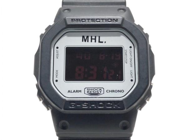 マーガレットハウエル 腕時計美品  DW-5600VT レディース ラバーベルト/MHL.×G-SHOCK