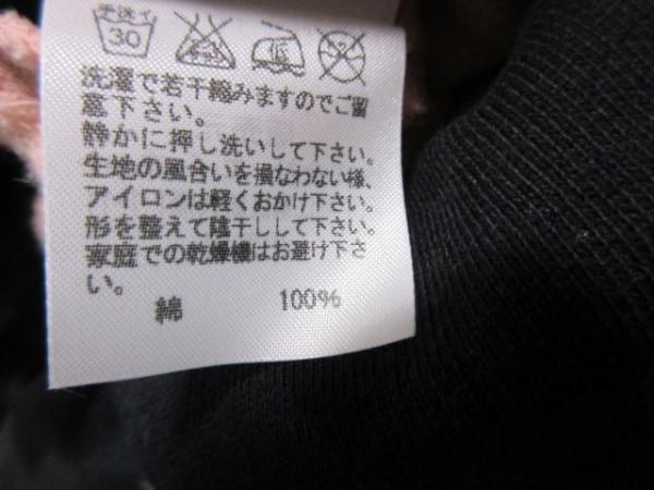 ツモリチサト ワンピース サイズ2 M レディース美品  ピンク×黒 ネコ柄/ラメ