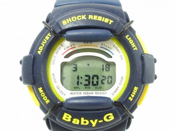 CASIO(カシオ) 腕時計美品  Baby-G BG-310 レディース 白×イエロー