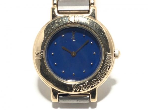 YvesSaintLaurent(サンローラン) 腕時計美品  2200-229789Y レディース ネイビー