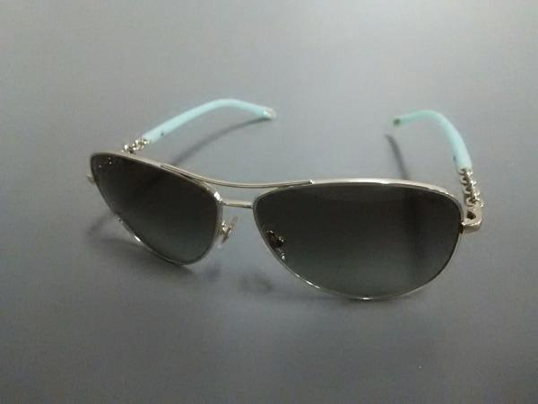 ティファニー サングラス TF3034 シルバー×ライトブルー×黒 金属素材×プラスチック