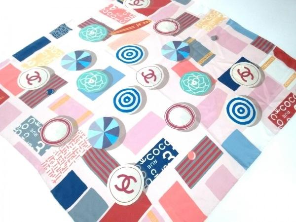 CHANEL(シャネル) スカーフ美品  AA0356 ピンク×マルチ 2019SS