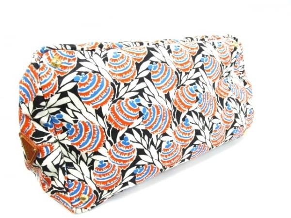 PRADA(プラダ) トートバッグ CANAPA 白×黒×マルチ キャンバス 4