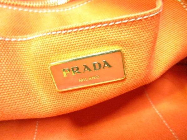 PRADA(プラダ) トートバッグ CANAPA 白×黒×マルチ キャンバス 6