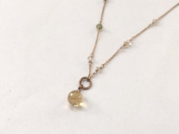 NOJESS(ノジェス) ネックレス美品  K18YG×カラーストーン K10YG×マルチ