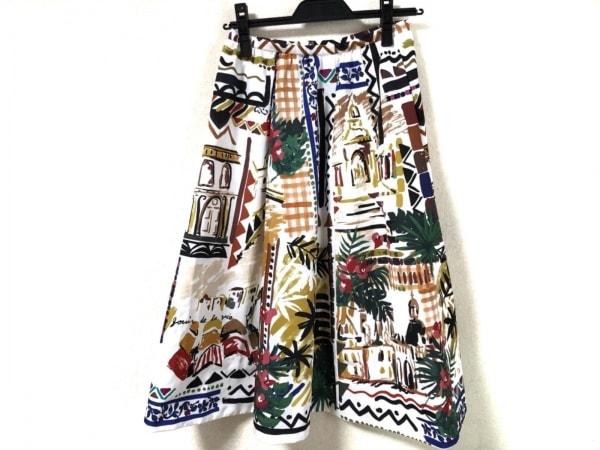 Chesty(チェスティ) スカート サイズ0 XS レディース アイボリー×マルチ 花柄