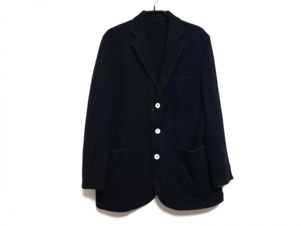 ラウラフェリーチェ ジャケット サイズ46 XL メンズ 黒×ネイビー×グリーン