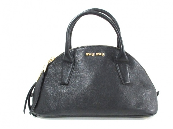 miumiu(ミュウミュウ) ハンドバッグ マドラス RL0091 黒 レザー