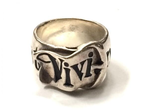 VivienneWestwood(ヴィヴィアンウエストウッド) リング 金属素材 シルバー×黒