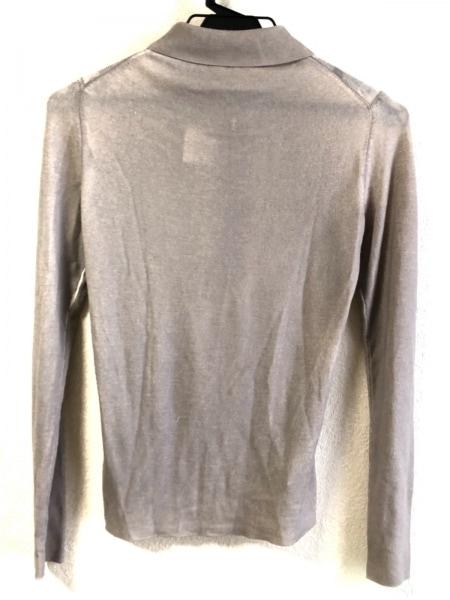 PRADA(プラダ) 長袖ポロシャツ サイズ40 M レディース グレー×ベージュ ニット