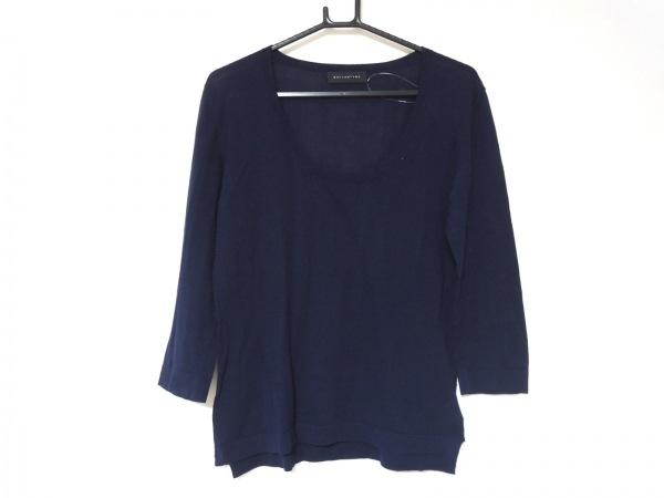 Ballantyne(バランタイン) 七分袖セーター サイズ44 L レディース美品  ネイビー
